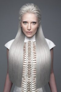 'ANTI-ORDINARY' Campaign for Fudge Professional, photography by Luke Nugent, Spine Dress by Monika Bereza