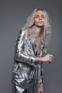 'ANTI-ORDINARY' Campaign for Fudge Professional, photography by Luke Nugent, Silver Jacket By Monika Bereza